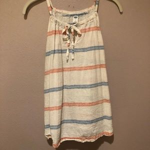 Red, white, and blue striped Tank